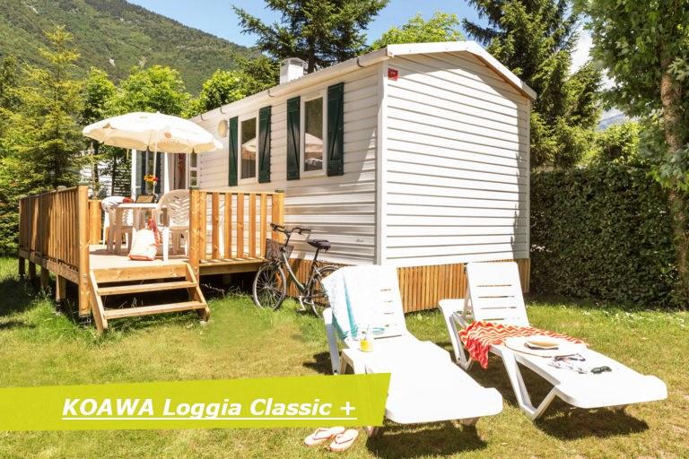 loggia classic + exterieur camping Alpes d'Huez piscine montagne Isère