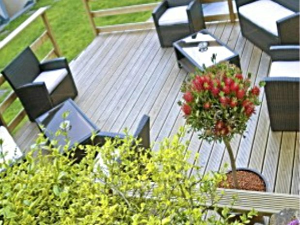 Taerrase et jardin Hôtel de Clisson Saint-Brieuc