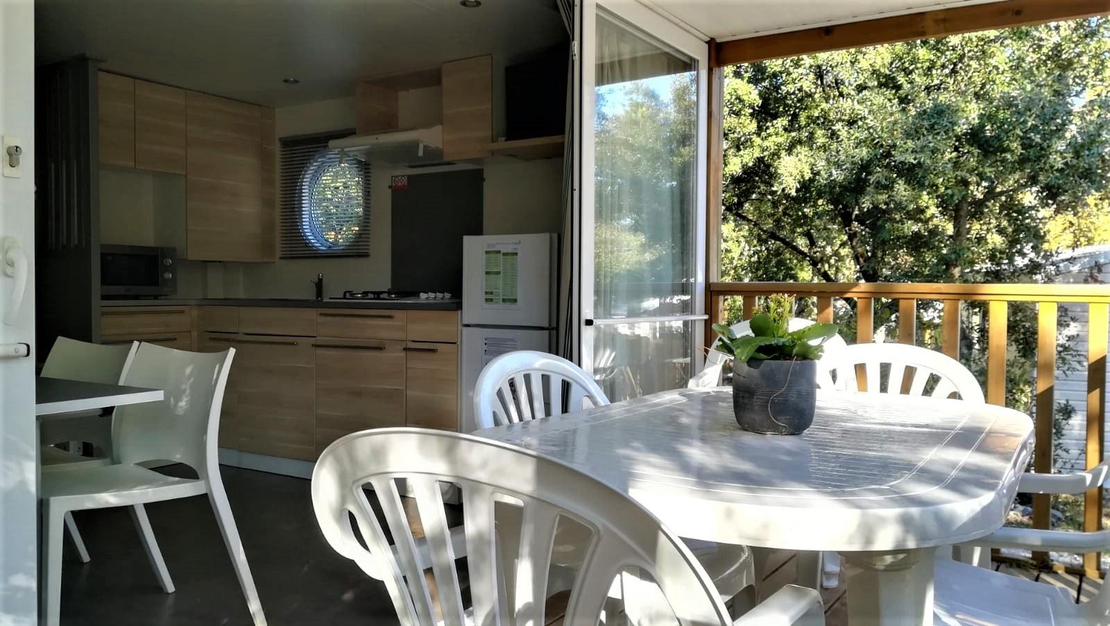loggia premium séjour 09  - camping piscine familial proche ardeche gorges.