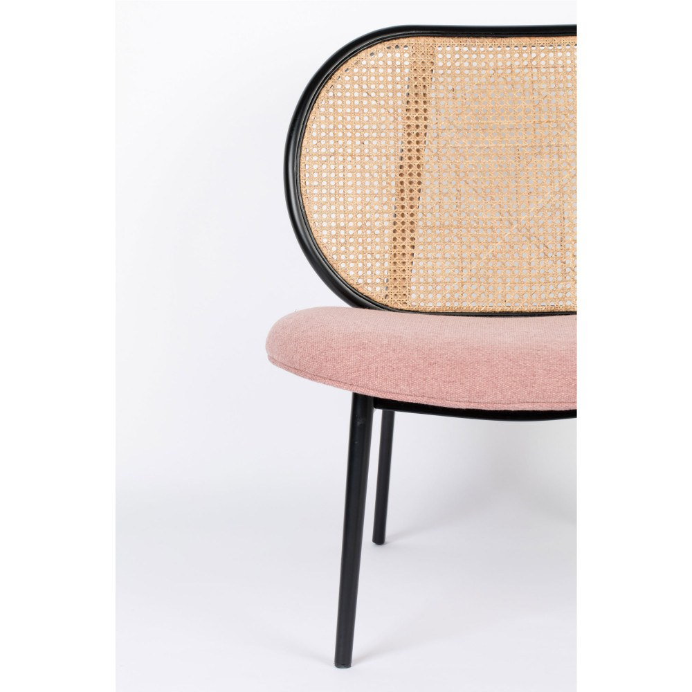 fauteuil lounge rose 5