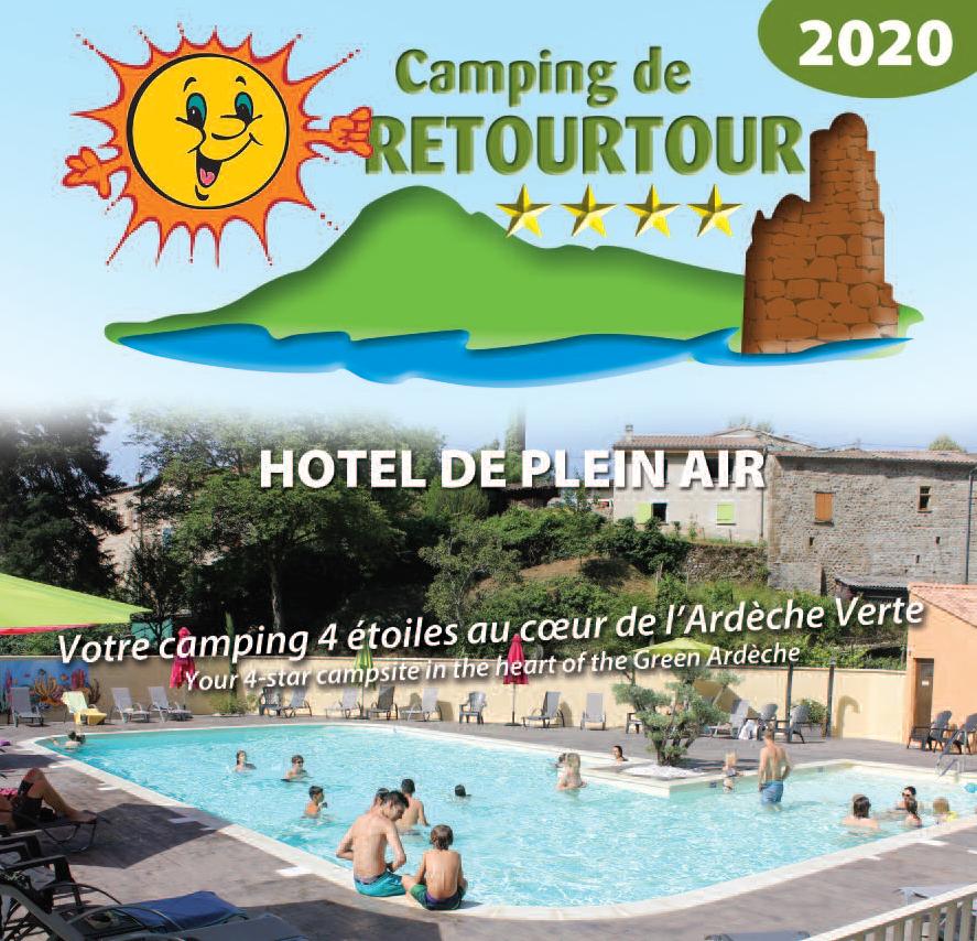 Brochure camping de Retourtour piscine ardèche rivière