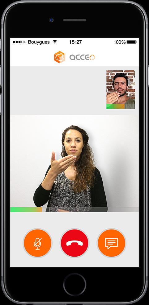 Acceo, accessibilité pour les sourds ou malentendants