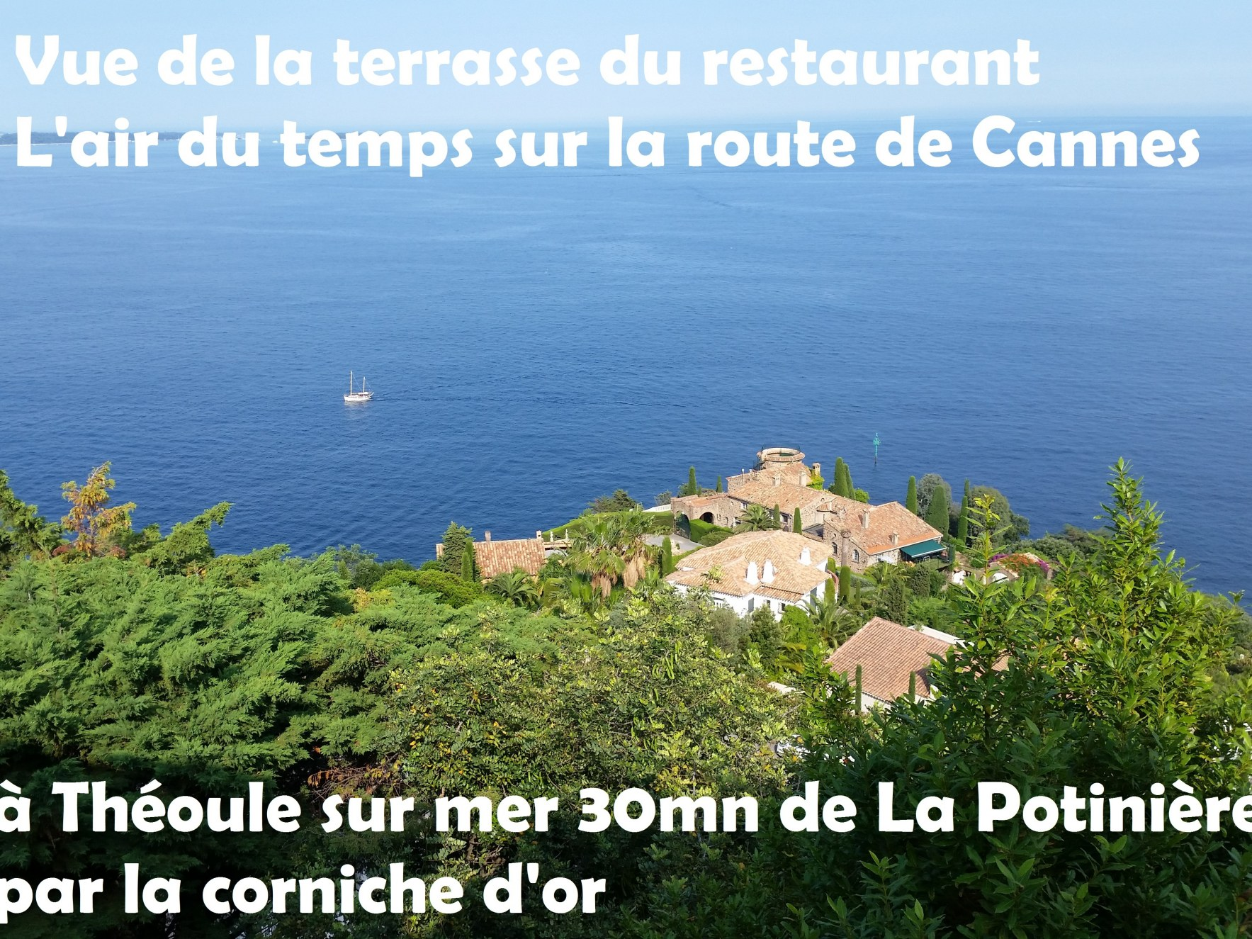 Bon Plan depuis saint raphael sur la route de cannes depuis chambres d'hotes La Potinière