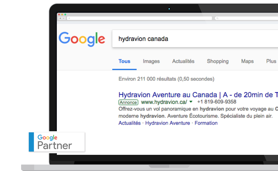 publicité adwords google partner