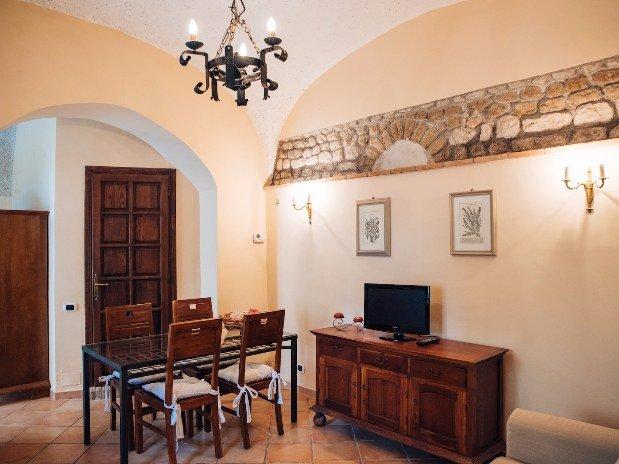 Castello Santa Margherita Appartamento Rifugio di Ercole Sala da pranzo