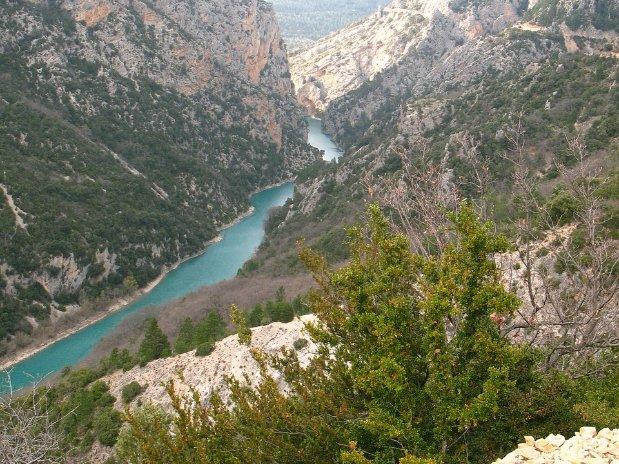 gorges du verdon - castellane - france- vue du haut des montagnes