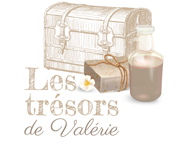 logo les trésors de valérie en moselle à frauenberg boutique de savon de marseille, huiles essentielles , bougies de massages et sels de bains