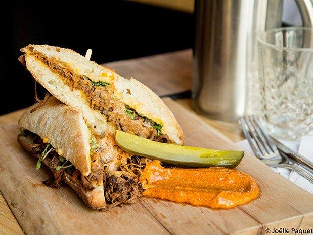 Pulled porc sandwich