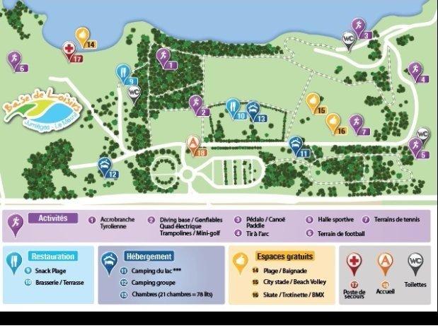 Plan Base de loisirs de Jumièges-Le Mesnil