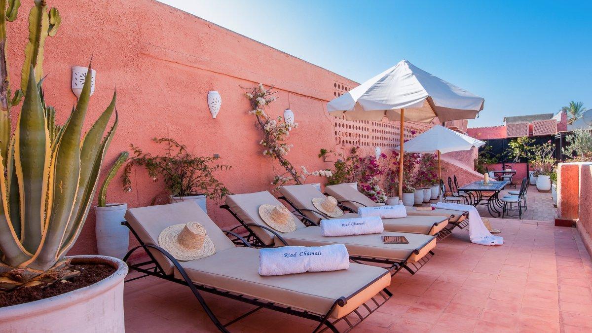 Terrasse Riad Chamali Marrakech Solarium