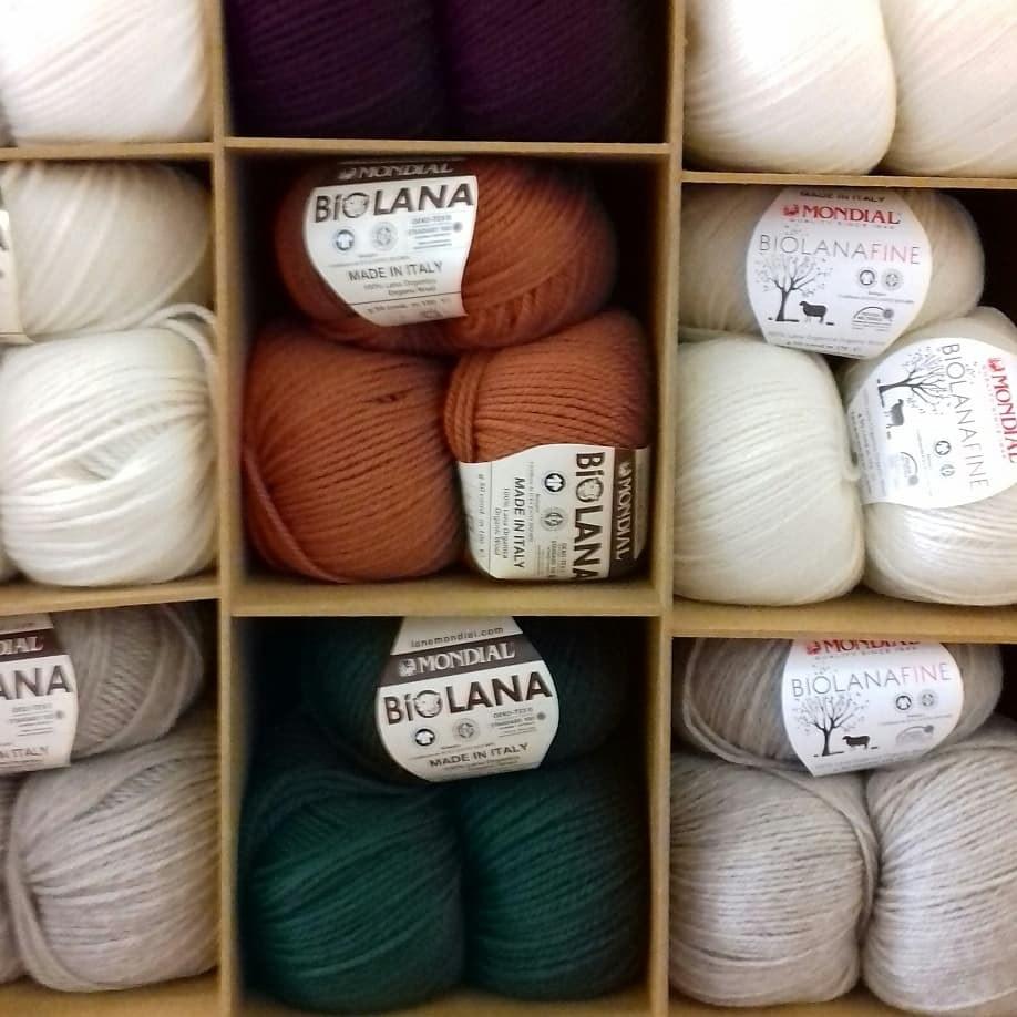 Présentation fils à tricoter