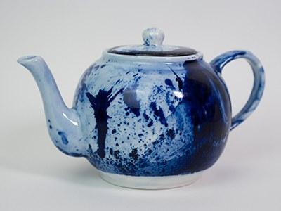 Théière Bleue BRILLANTE / Collection Ligne Bleue