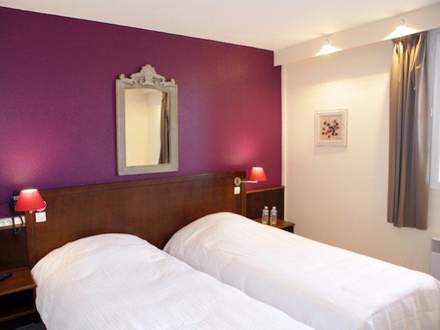 Hotel Les Nymphéas Eure Giverny chambre lit jumeaux