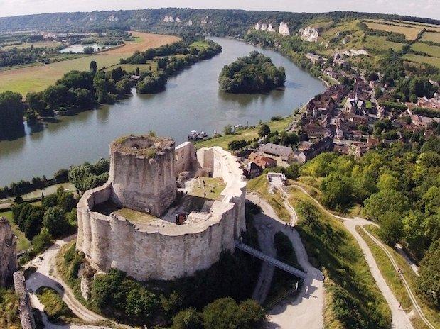 château Gaillard Les Andelys vue du ciel