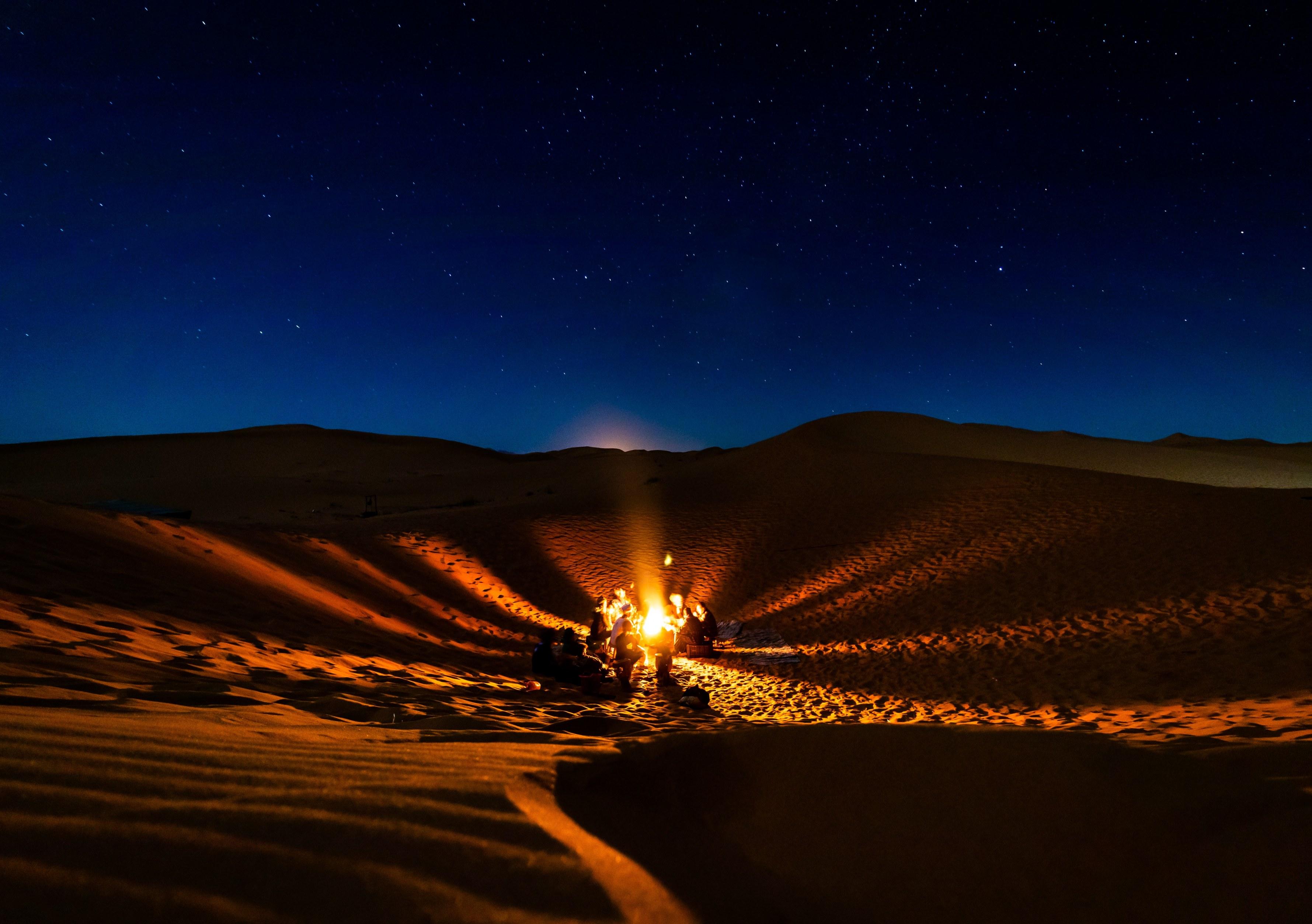 desierto noche