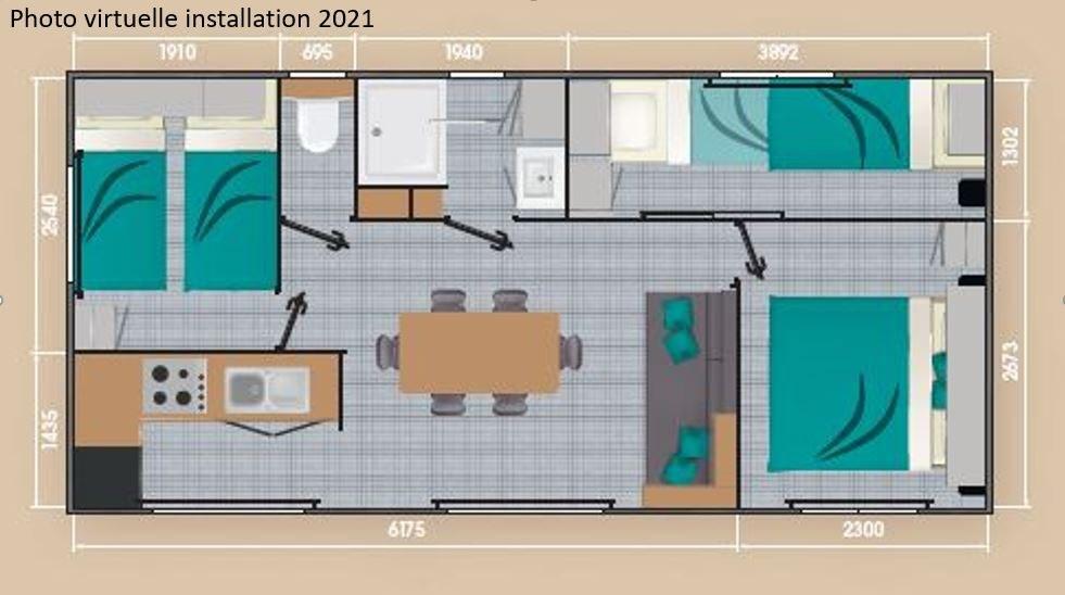 loft premium + plan 02  - camping piscine familial proche ardeche gorges