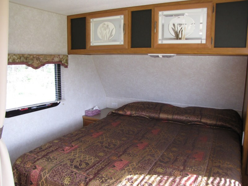 location-roulotte-gaspésie-prowler29-chambre