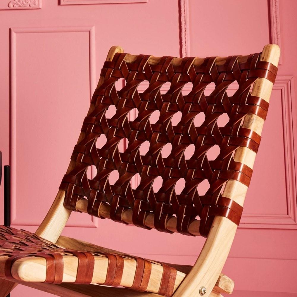 fauteuil-gardian-cuir-tresse 2