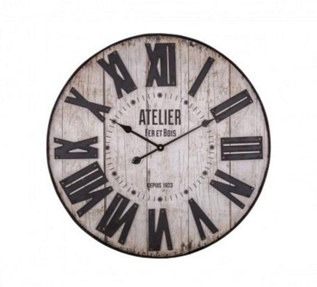Horloge atelier-fer-et-bois
