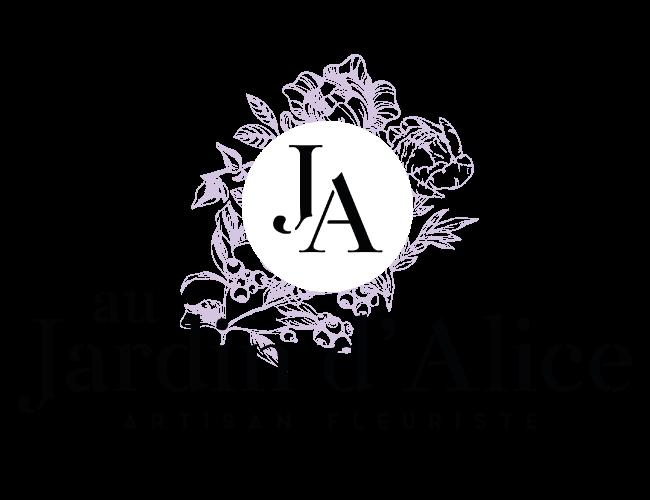 logo grand Au jardin d'Alice à Bourgoin-Jallieu et Nivolas-Vermelle en Isère : boutique de fleurs