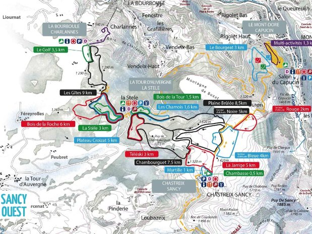 ski - tourisme - auvergne - la bourboule - mont dore - camping poutie - domaine skiable - puy de sancy - nord
