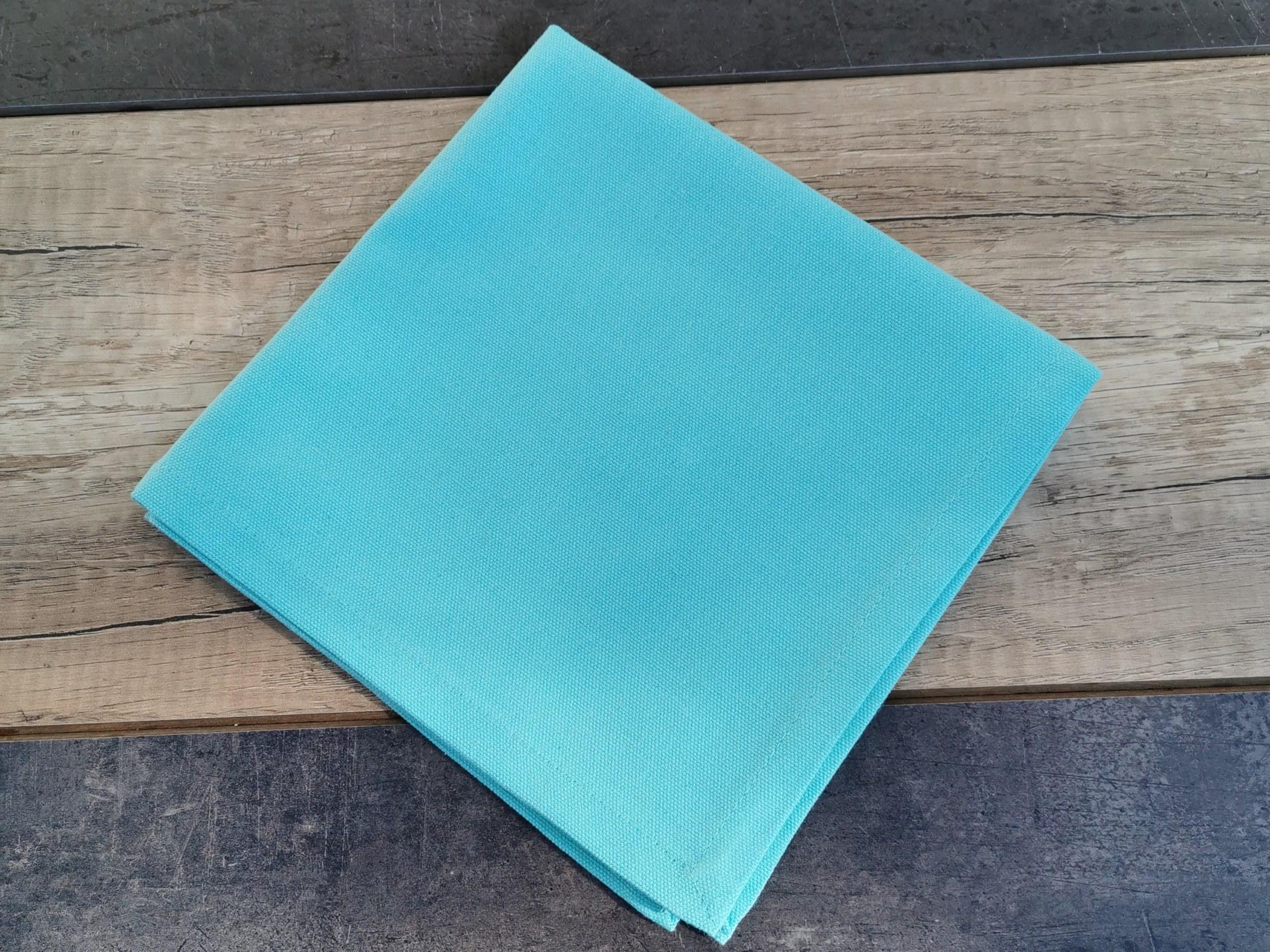 serviette de table coloris aqua de sud etoffe