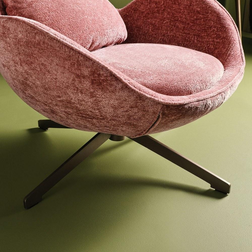 fauteuil-queen-rose-pivotant 2