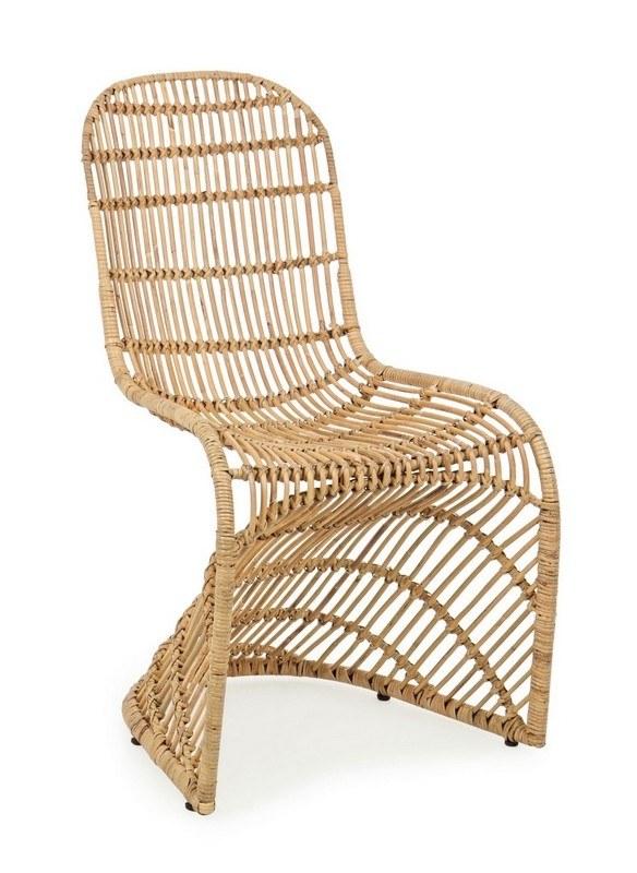 chaise zelai rotin