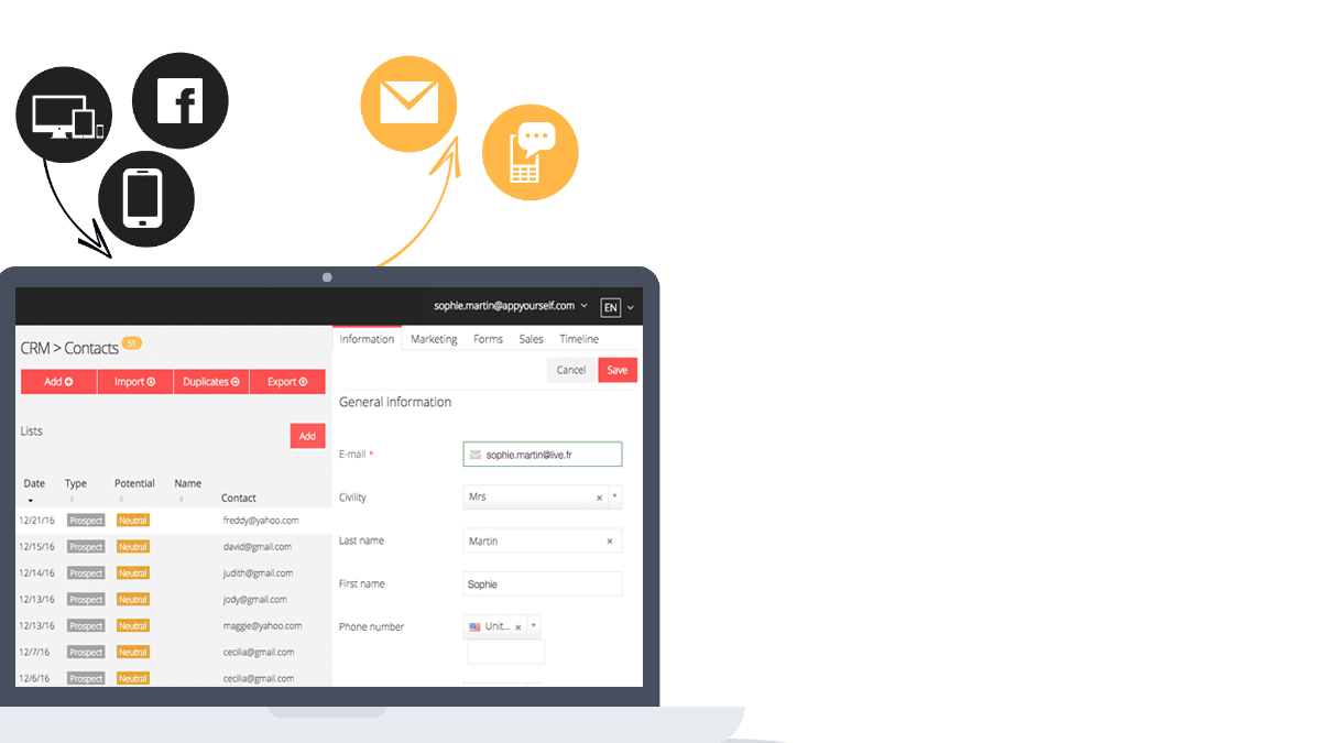 CRM contacts