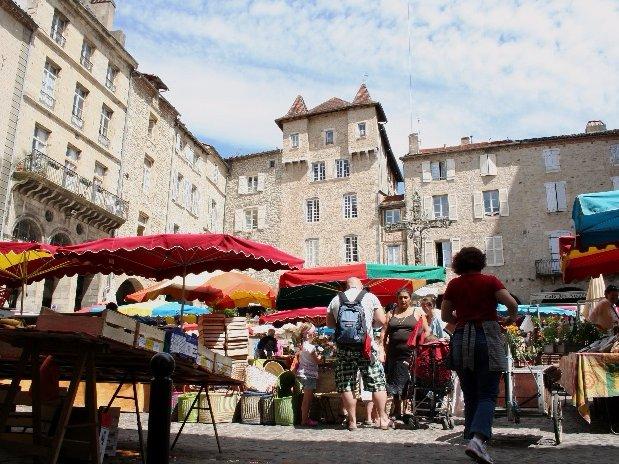 Villefranche de Rouergue marché