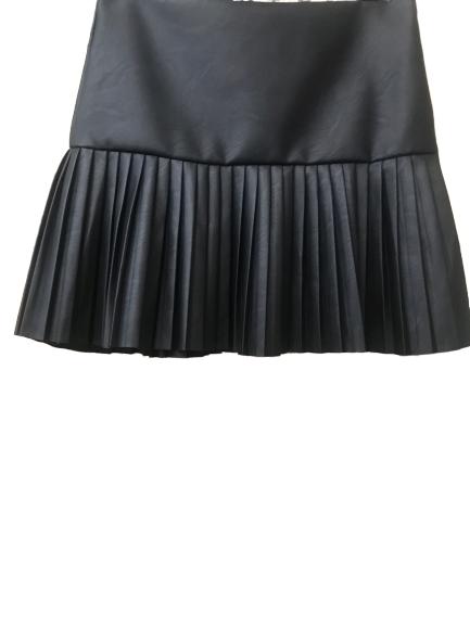 mini jupe plissée noir