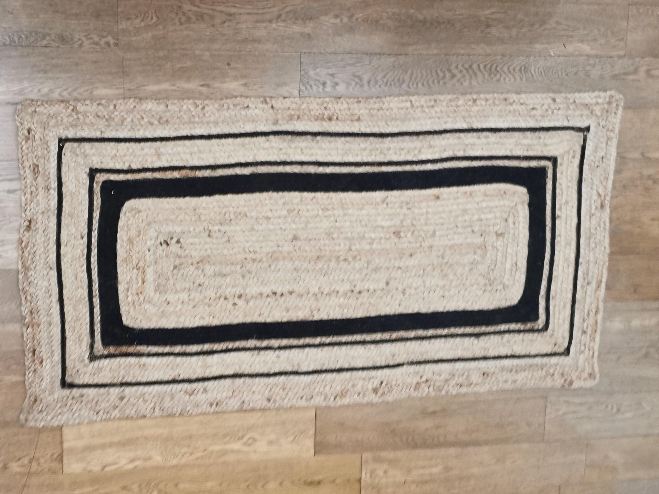 tapis rectangulaire jute couleurs d'Hélène