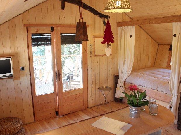 détail interieur cabane escapade Loire