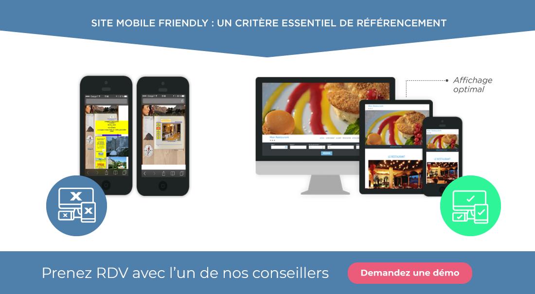 Site mobile friendly pour le référencement