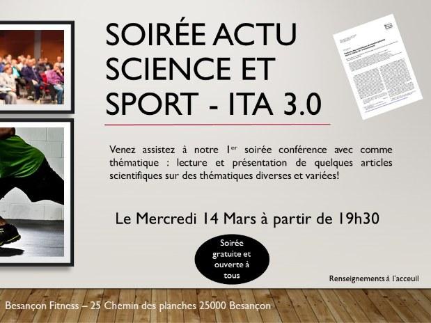 Inside the athletes 3.0 conférence scientifique sport adapté entraînement besancon fitness 2