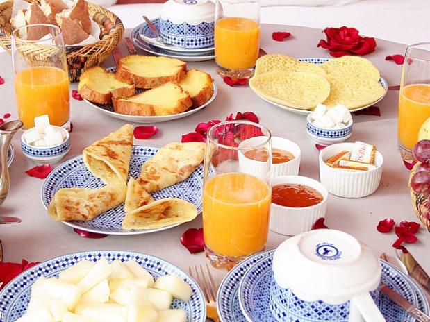 breakfast riad chamali - hotel - marrakech - morocco