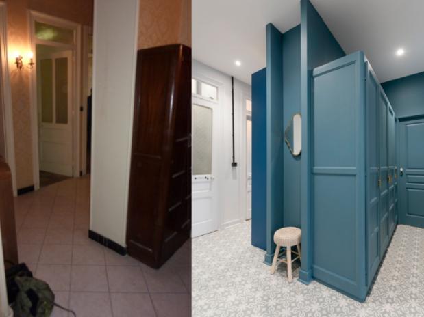 renovation-appartement-lyon-couloir-avant-apres