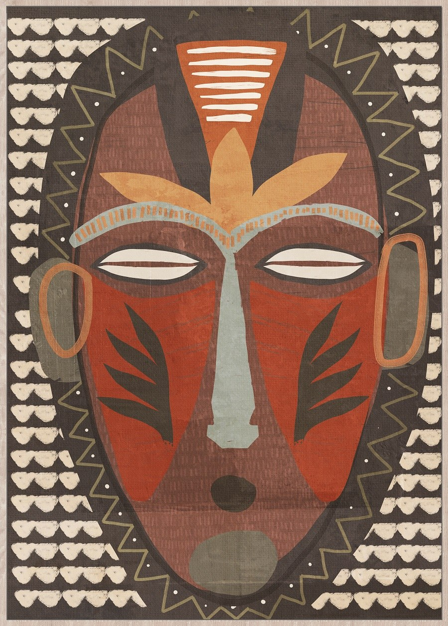 tableau masque africain.