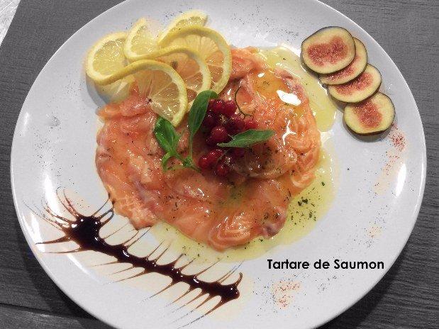 Tartare de saumon - restaurant maison monsieur - la chaux de fonds