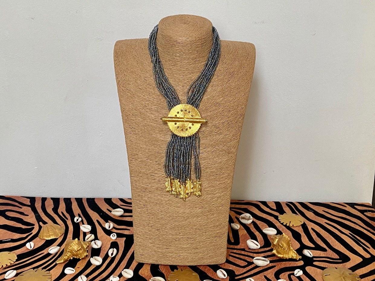 collier perle d'Afrique