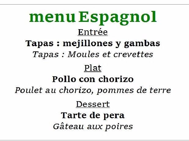 camping Le Clapas restaurant Cla-pasta example menu