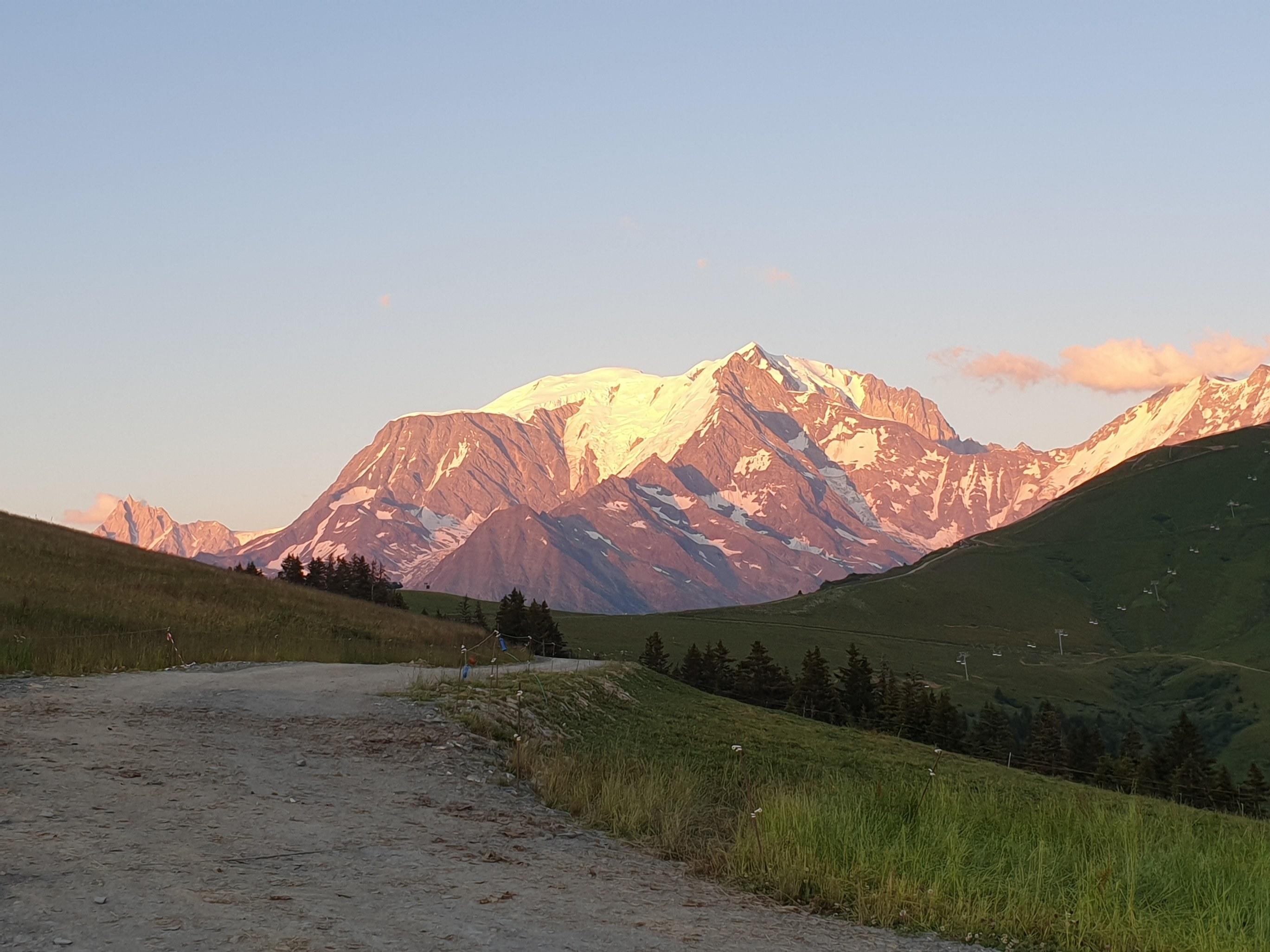 mont blanc depuis l'alpage