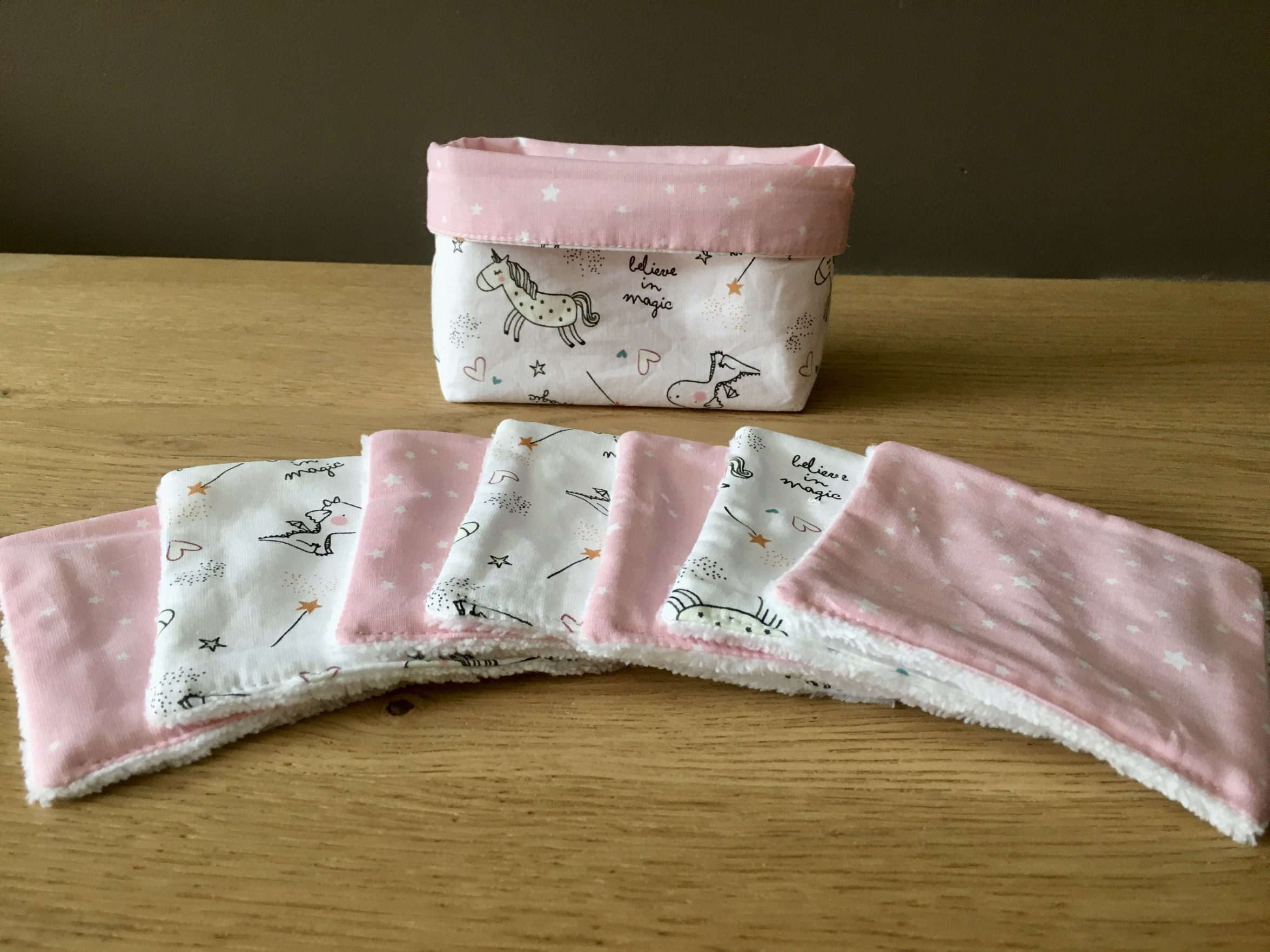 Lingettes tissu licorne
