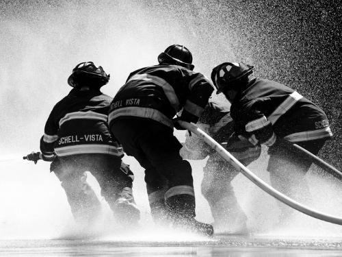 Pompiers, policiers, militaires à Montpellier