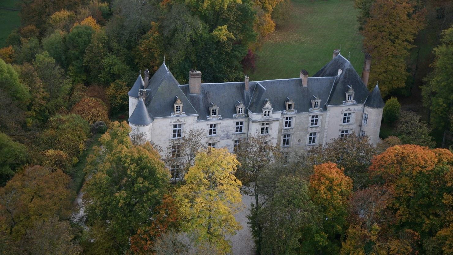 Das Château von Oben