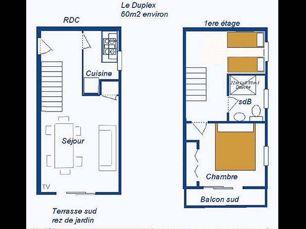 location-gite-a-Saint-Raphael-Frejus-plan-appartement