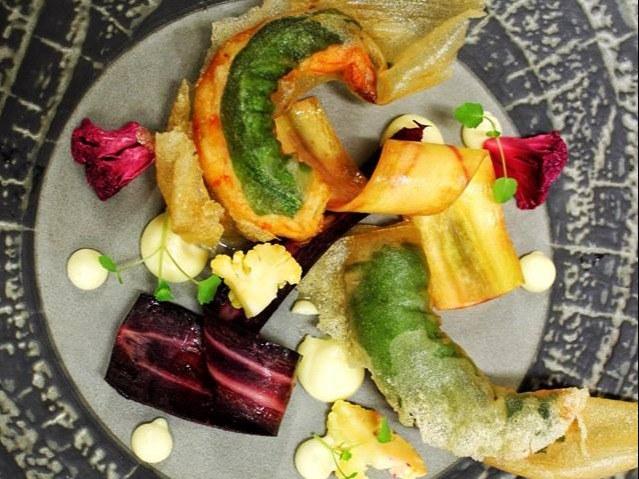 Crevettes et fèves
