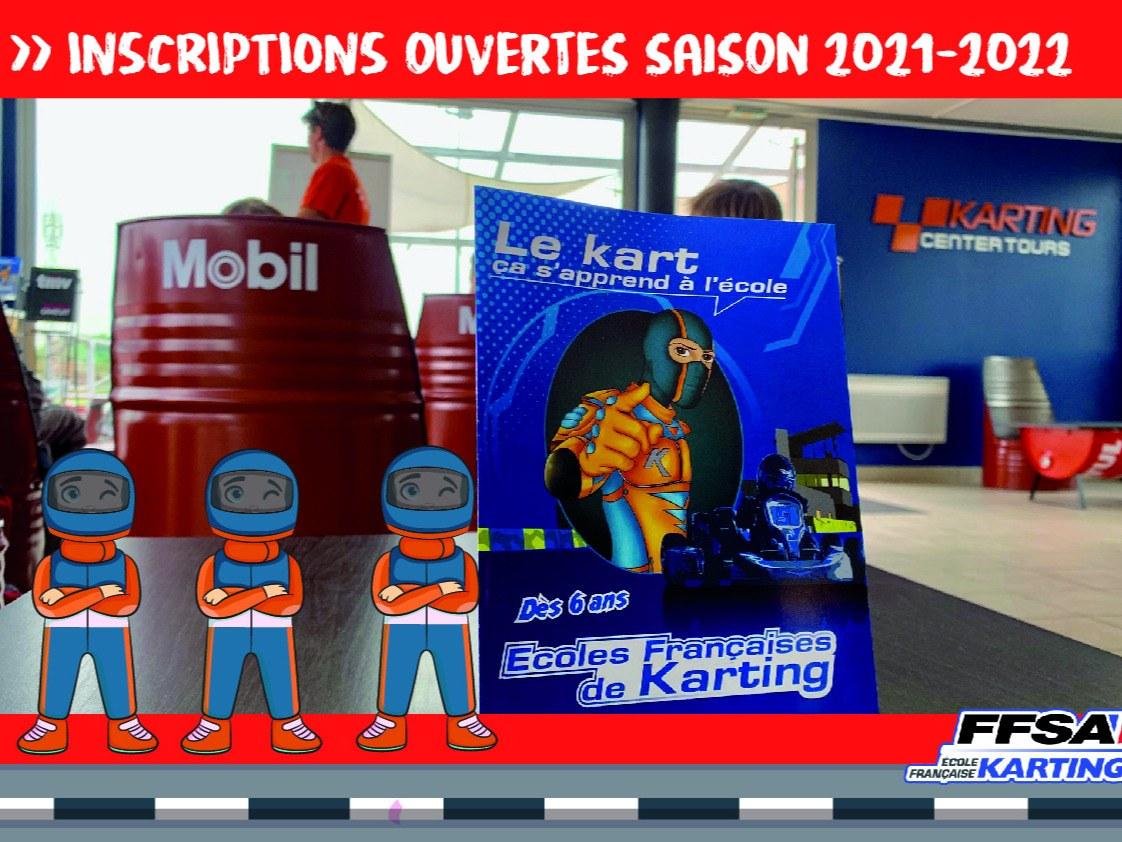ouverture inscription ecole de karting val de loire 2021-2022