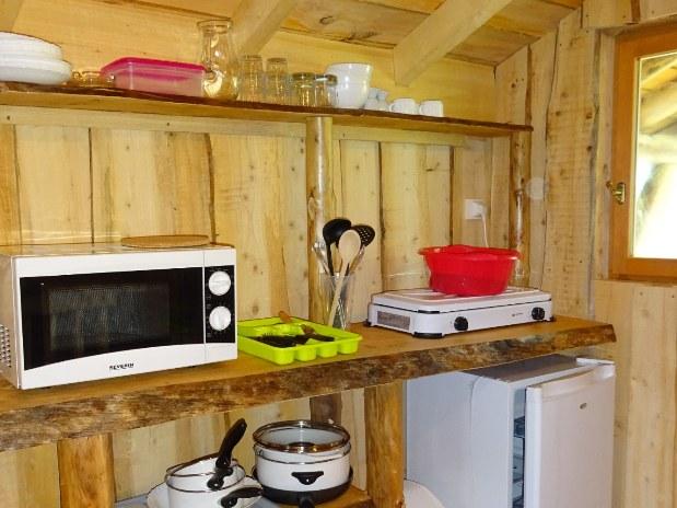 Cuisine cabane camping vosges