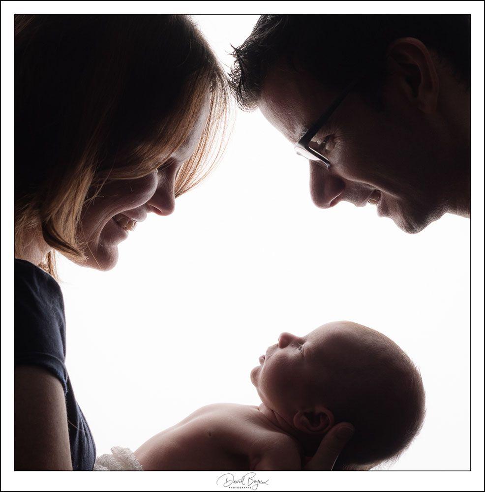 Portrait - Couple et nouveau né